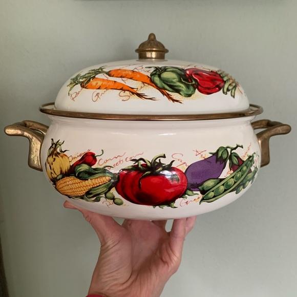 Vintage Other - Vintage Farmers Best Enamel Dutch Oven
